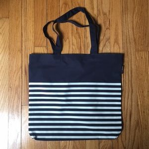 J. Crew Navy & White striped tote